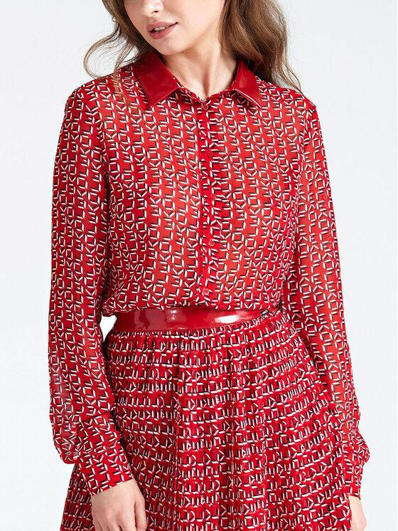 Guess Guess Риза W93H91 WBTY0 Червен Regular Fit