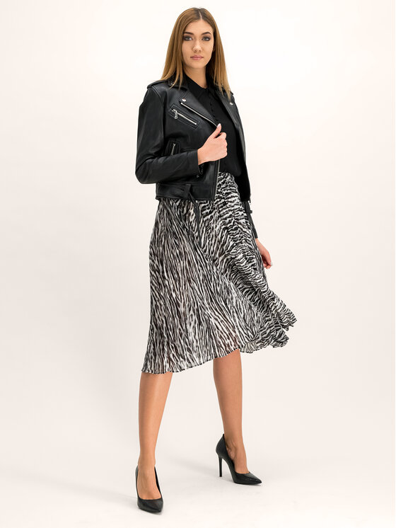 MICHAEL Michael Kors MICHAEL Michael Kors Plisovaná sukňa MF97EZ0CDA Sivá Regular Fit