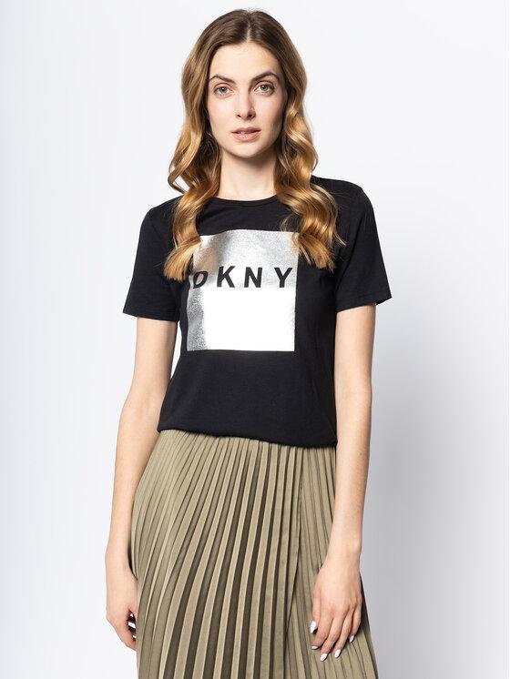 DKNY DKNY Tricou P9HB6CNA Negru Regular Fit