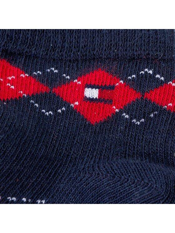 Tommy Hilfiger Tommy Hilfiger Set di 3 paia di calzini corti da bambini 445001001 Multicolore