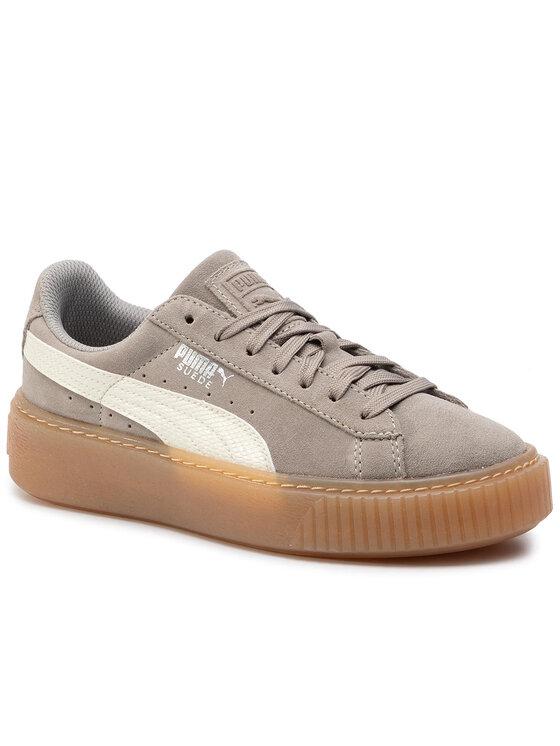 Puma Puma Sneakersy Suede Platform Snk Jr 363906 05 Sivá