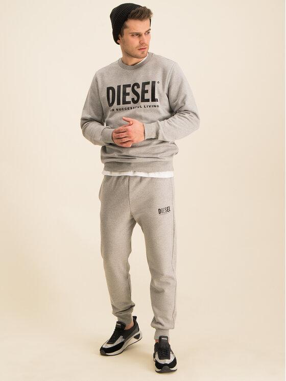 Diesel Diesel Teplákové nohavice P-Tary-Logo 00SZLB 0BAWT Sivá Regular Fit