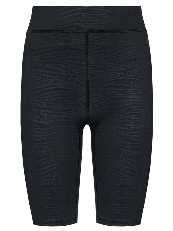 4F 4F Szorty sportowe H4L21-LEG015 Czarny Slim Fit