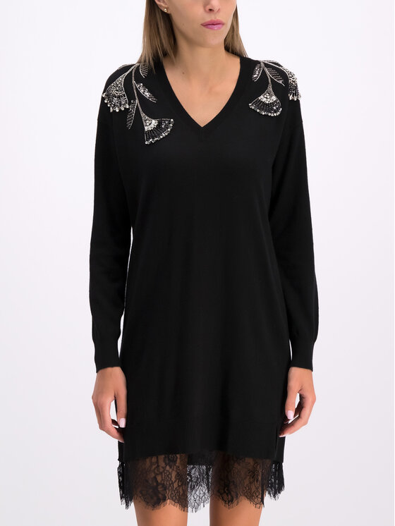 TwinSet TwinSet Sukienka codzienna 192TP3331 Czarny Regular Fit