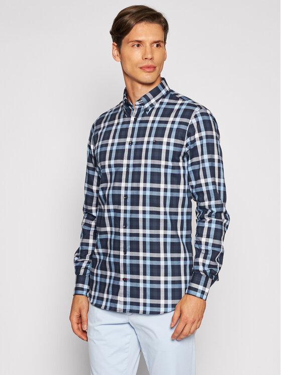 Tommy Hilfiger Tailored Marškiniai Multi Check MW0MW18972 Tamsiai mėlyna Regular Fit