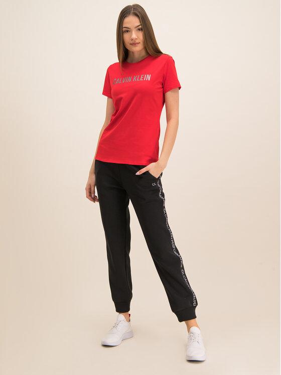 Calvin Klein Performance Calvin Klein Performance T-Shirt Tee Logo 00GWF8K139 Červená Relaxed Fit