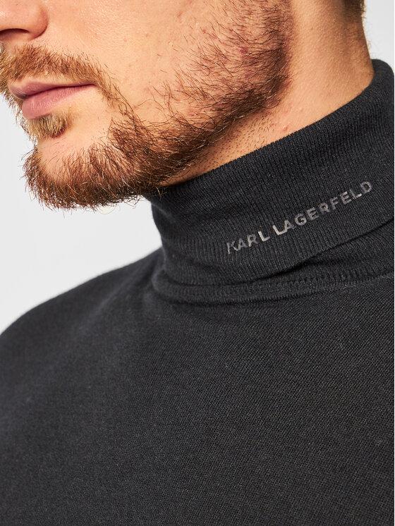 KARL LAGERFELD KARL LAGERFELD Golf Knit 655040 502306 Granatowy Regular Fit