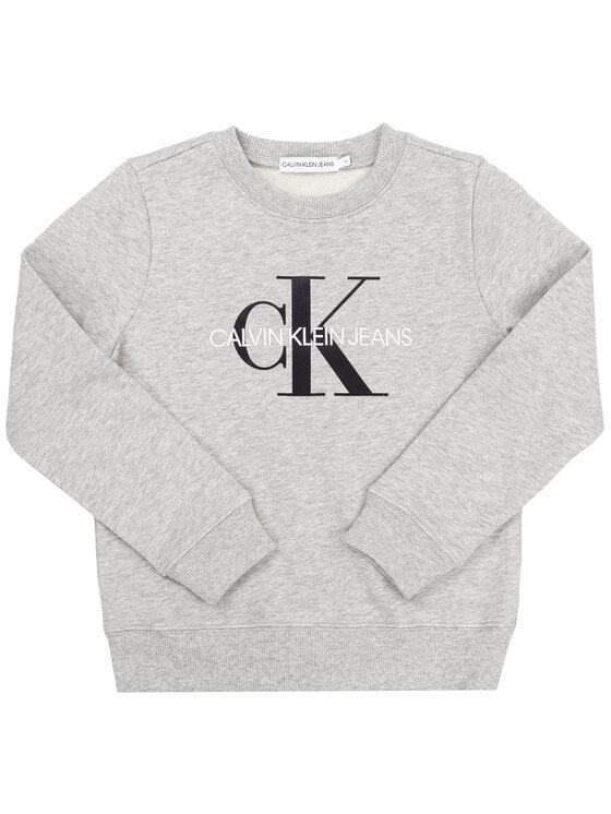 Calvin Klein Jeans Calvin Klein Jeans Džemperis Monogram Logo IU0IU00069 Pilka Regular Fit