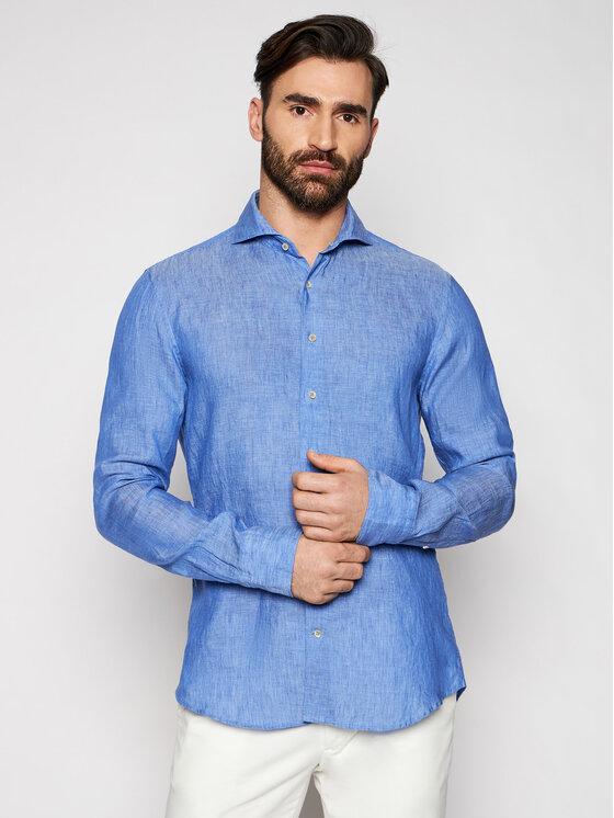 Stenströms Marškiniai 775221 7970 Tamsiai mėlyna Slim Fit