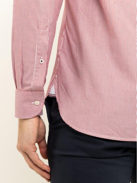 Tommy Hilfiger Tommy Hilfiger Hemd Natural Soft Poplin Stripe MW0MW12674 Rot Regular Fit