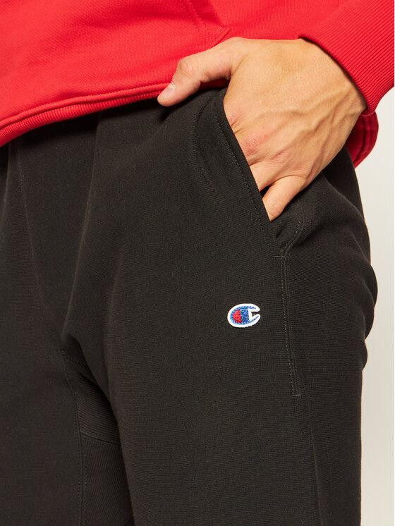 Champion Champion Spodnie dresowe Reverse Weave 212582 Czarny Regular Fit