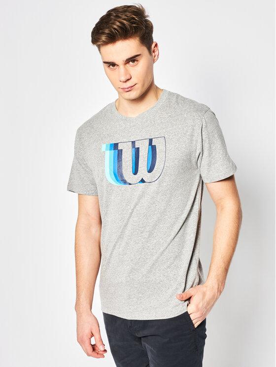 Wilson Marškinėliai M Blur W Tech Tee WRA779602 Pilka Regular Fit