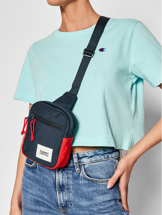 Tommy Jeans Tommy Jeans Saszetka Urban Essentials Chest Bag AM0AM07401 Granatowy