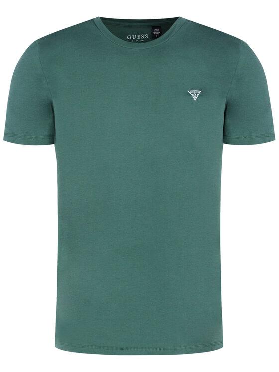 Guess Guess T-Shirt U94M09 JR00A Zelená Regular Fit