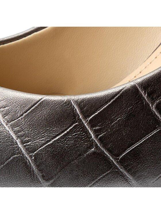 Guess Guess Pantofi cu toc subțire Ele7 FLEL73 LEA08 Argintiu