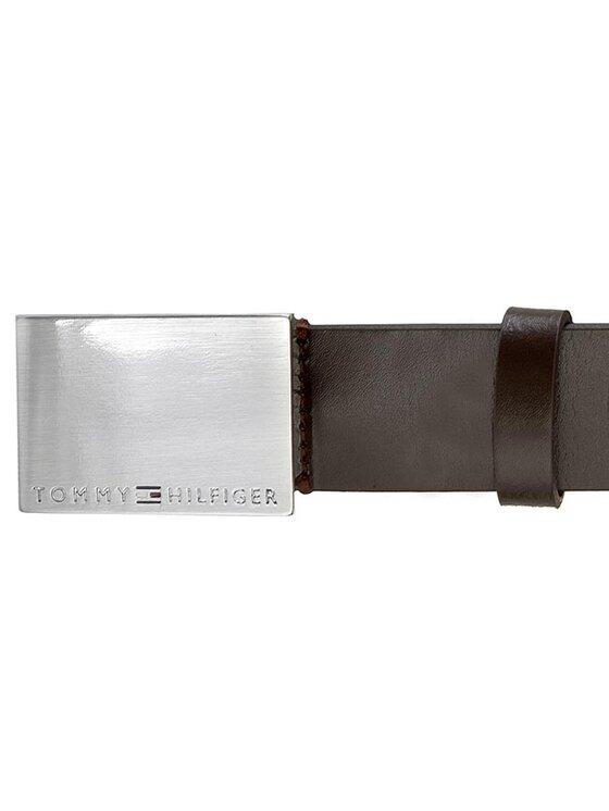 TOMMY HILFIGER TOMMY HILFIGER Pánsky opasok Plaque Belt 3.5 AM0AM00627 Hnedá
