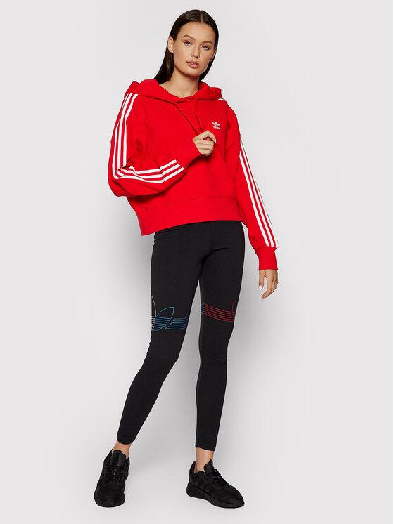 adidas adidas Majica dugih rukava adicolor Classics H34614 Crvena Relaxed Fit