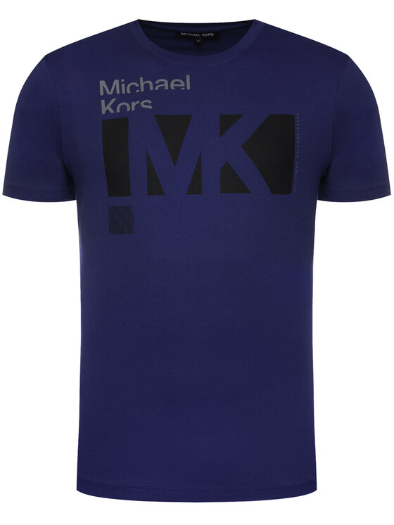 MICHAEL Michael Kors MICHAEL Michael Kors T-Shirt Crew Neck Logo CR95J4BFV4 Dunkelblau Regular Fit