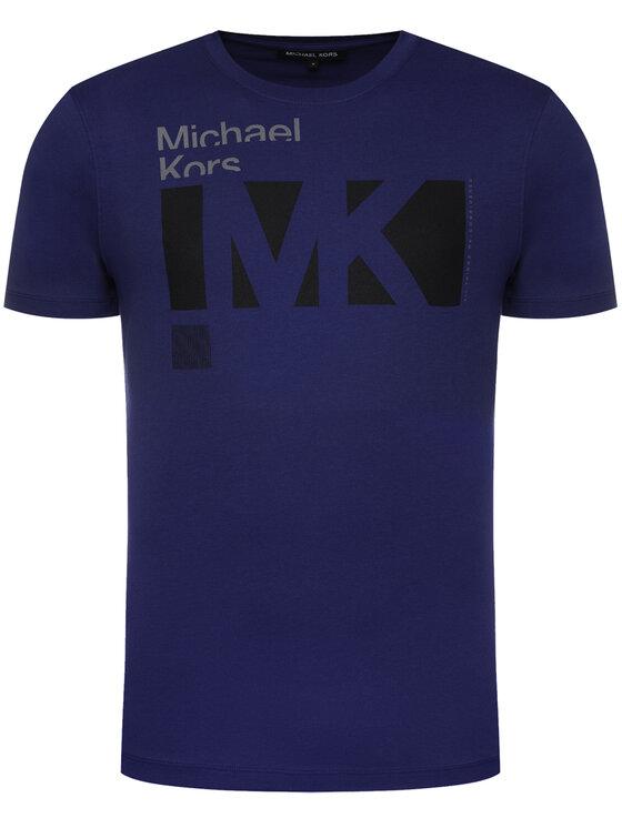 MICHAEL Michael Kors MICHAEL Michael Kors T-Shirt Crew Neck Logo CR95J4BFV4 Granatowy Regular Fit