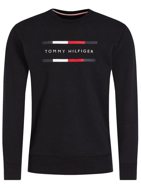 Tommy Hilfiger Tommy Hilfiger Bluză MW0MW11603 Negru Regular Fit