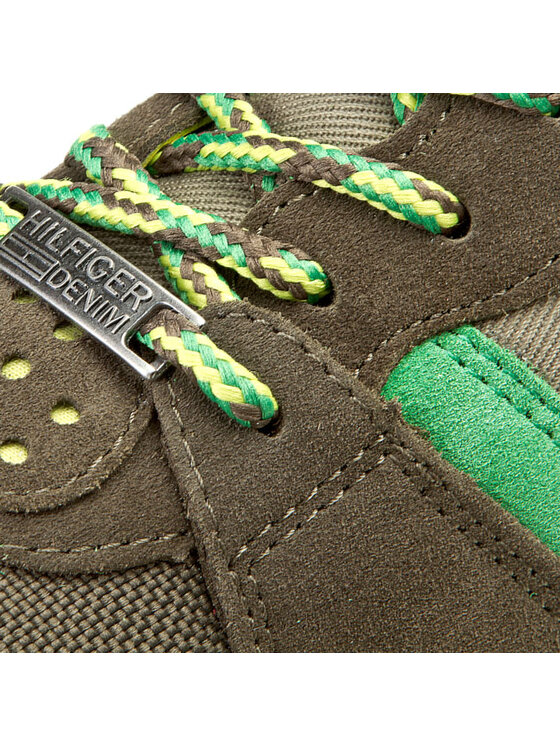 Tommy Hilfiger Tommy Hilfiger Sneakersy Roan 1C - 1 EM56818778 Zelená