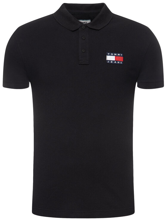 Tommy Jeans Tommy Jeans Polo Tjw Badge DM0DM07456 Μαύρο Regular Fit