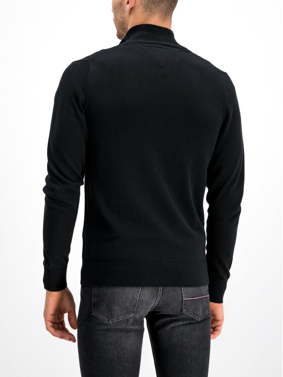 Tommy Hilfiger Tommy Hilfiger Пуловер Organic Cotton MW0MW10864 Черен Regular Fit