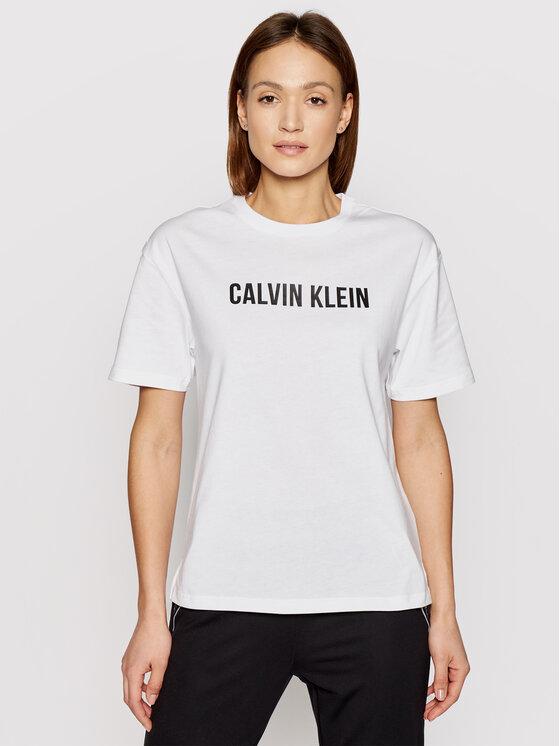 Calvin Klein Performance Marškinėliai 00GWS1K109 Balta Relaxed Fit
