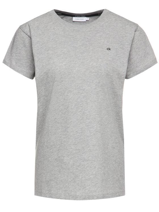 Calvin Klein Calvin Klein Marškinėliai Embroidered K20K201370 Pilka Regular Fit