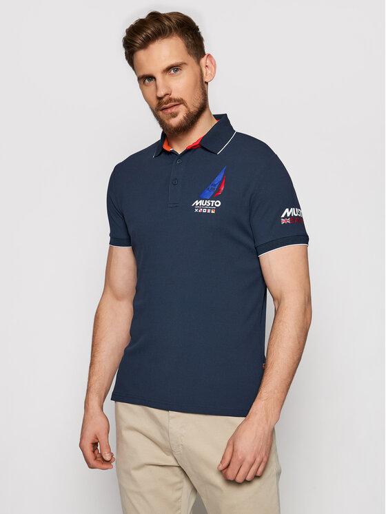 Musto Polo marškinėliai Sardinia 82015 Tamsiai mėlyna Regular Fit