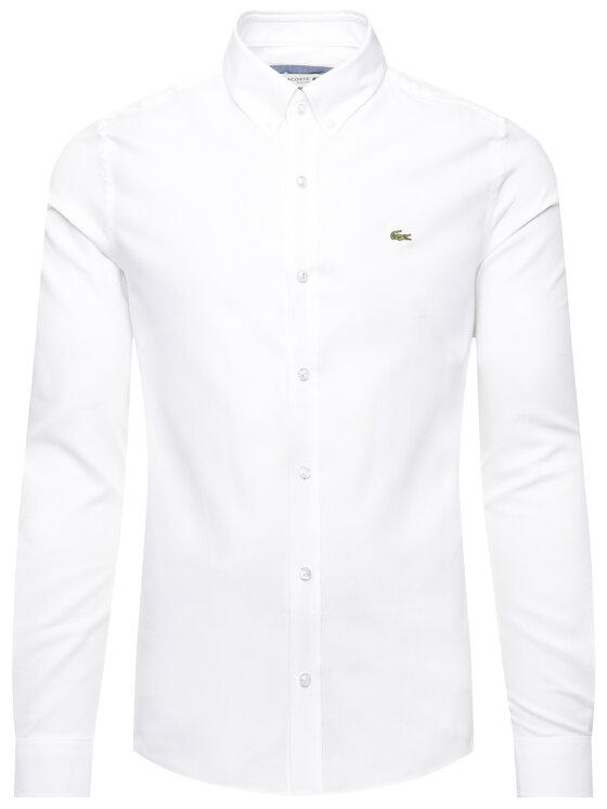 Lacoste Lacoste Košile CH1948 Bílá Slim Fit