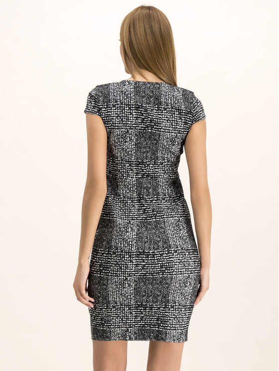 DKNY DKNY Kleid für den Alltag DD8JD737 Schwarz Slim Fit