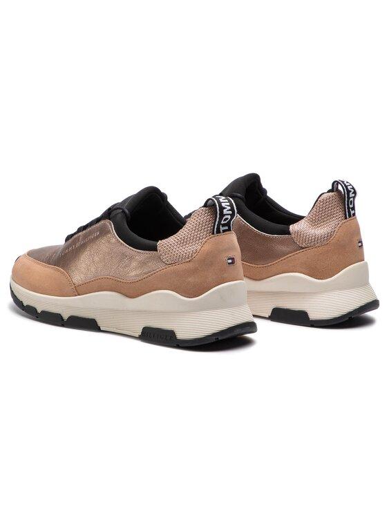 Tommy Hilfiger Tommy Hilfiger Laisvalaikio batai Cool Leather Debossed Sneaker FW0FW04028 Smėlio