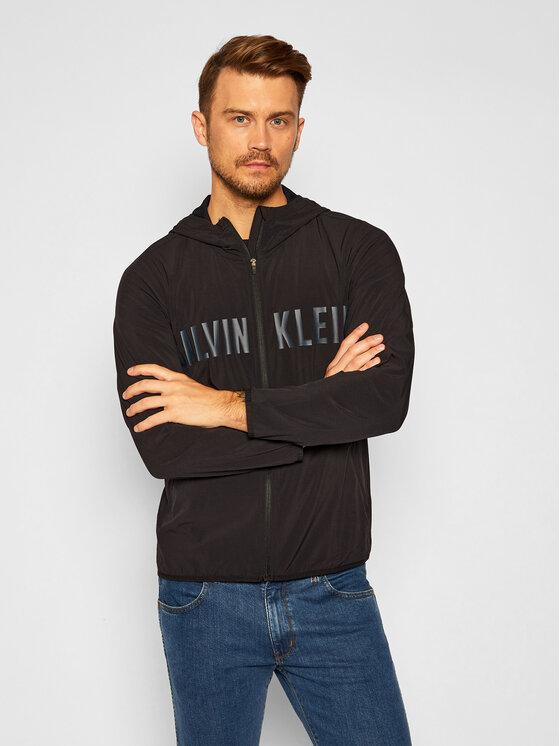 Calvin Klein Performance Demisezoninė striukė 00GMF0O660 Juoda Regular Fit