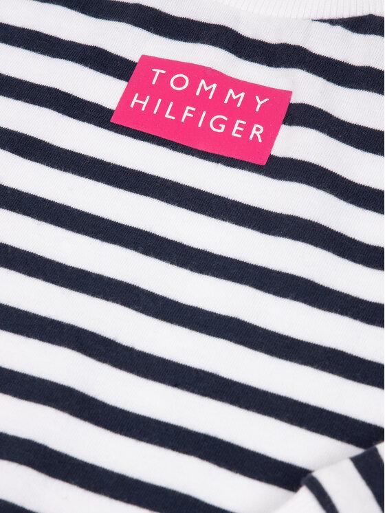 TOMMY HILFIGER TOMMY HILFIGER Mikina Nautical Stripe KG0KG04889 M Biela Regular Fit