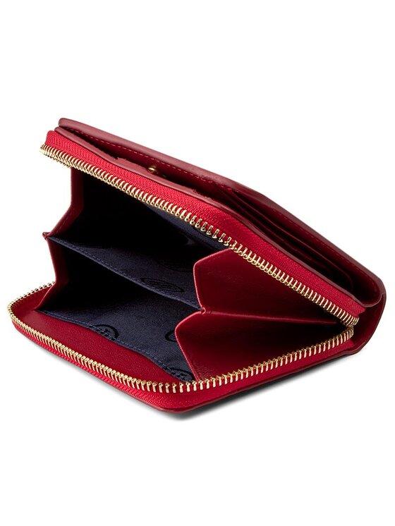 Tommy Hilfiger Tommy Hilfiger Голям дамски портфейл Soft Leather Compact Zip W/Flat AW0AW04118 Червен