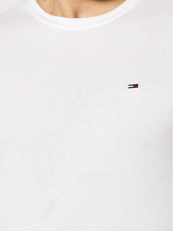Tommy Jeans Tommy Jeans Longsleeve DM0DM04409 Weiß Slim Fit
