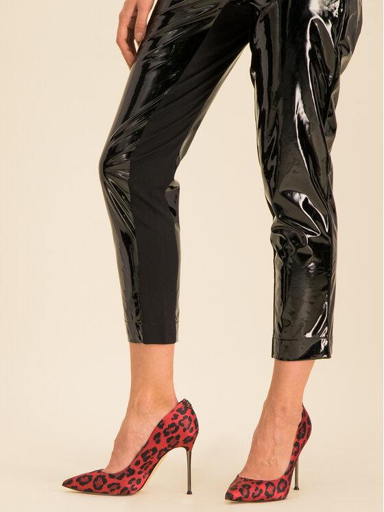 Guess Guess Spodnie z imitacji skóry Menodora W01B73 WBUE0 Czarny Regular Fit