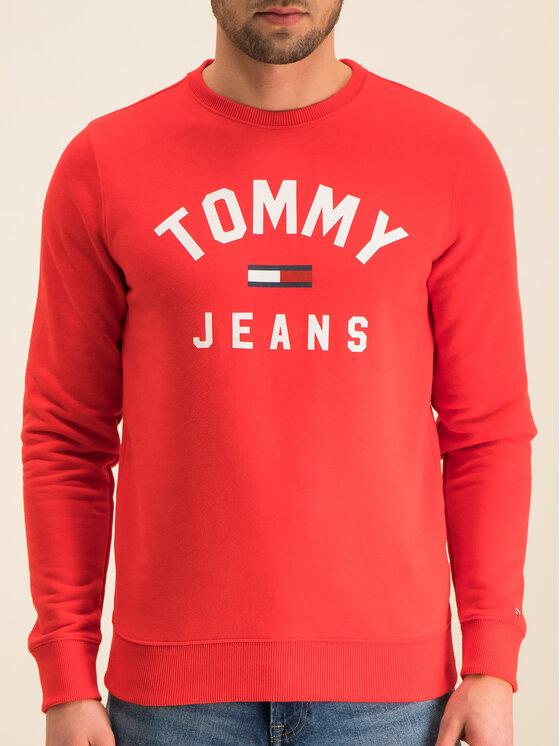 Tommy Jeans Tommy Jeans Bluză Tjm Essential Flag Crew DM0DM07024 Roșu Regular Fit