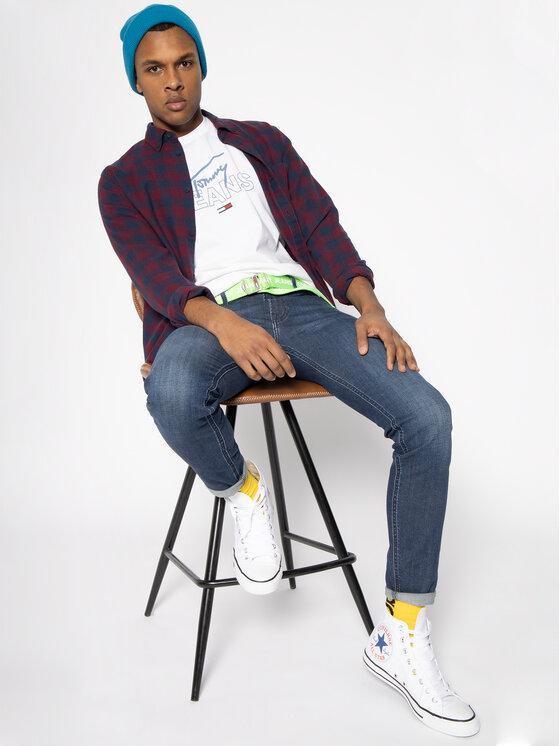 Tommy Jeans Tommy Jeans T-Shirt Script DM0DM07011 Weiß Regular Fit