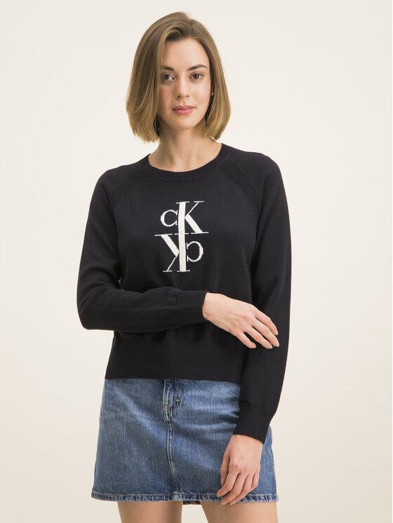 Calvin Klein Jeans Calvin Klein Jeans Sveter J20J213181 Čierna Regular Fit