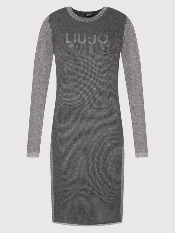 Liu Jo Sport Liu Jo Sport Džemper haljina TF1186 MA831 Siva Regular Fit