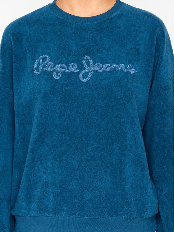 Pepe Jeans Pepe Jeans Fleecová mikina Noelia PL580878 Tmavomodrá Regular Fit