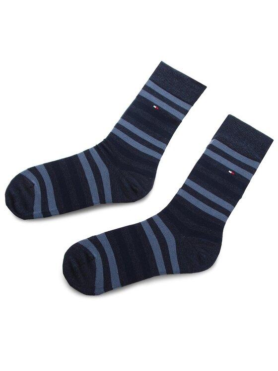 TOMMY HILFIGER TOMMY HILFIGER Комплект 5 чифта дълги чорапи мъжки 482010001 Тъмносин