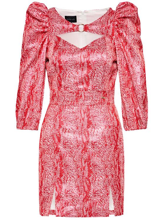 Rage Age Rage Age Sukienka koktajlowa Arete 1 Czerwony Slim Fit