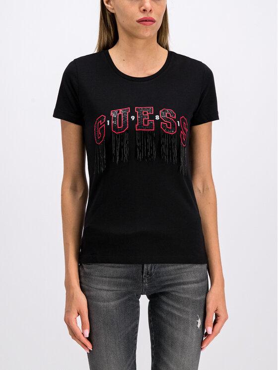 Guess Guess T-Shirt W94I87 K75R0 Schwarz Regular Fit