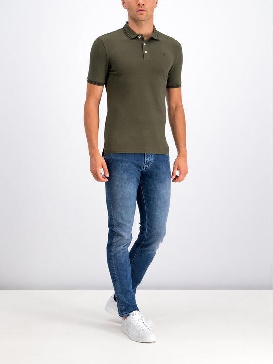 Emporio Armani Emporio Armani Тениска с яка и копчета 8N1F30 1JPTZ 0582 Зелен Regular Fit
