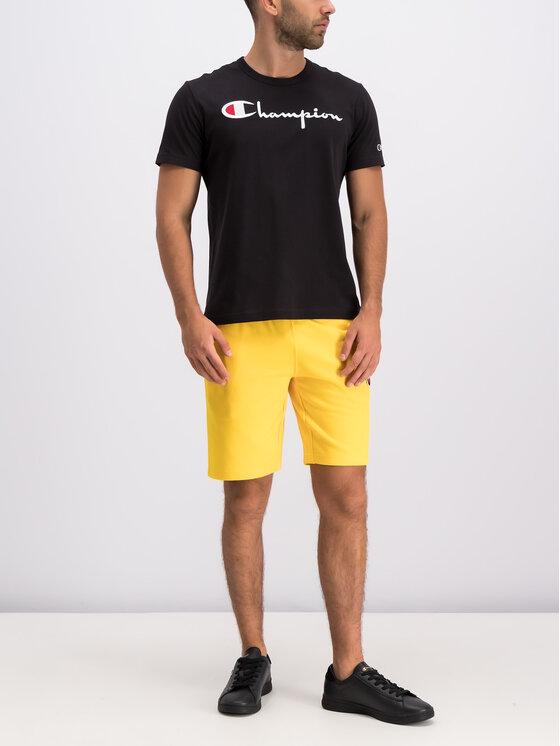 Champion Champion Pantaloni scurți sport 212944 Galben Regular Fit