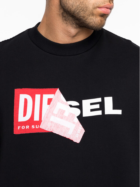 Diesel Diesel Mikina S-Samy 00S8WC 0IAEG Čierna Regular Fit