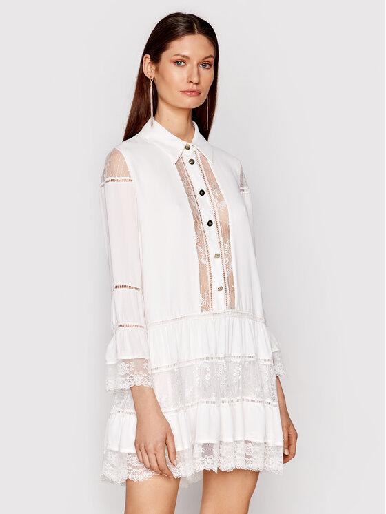 Babylon Marškinių tipo suknelė N_EL0701 Balta Regular Fit
